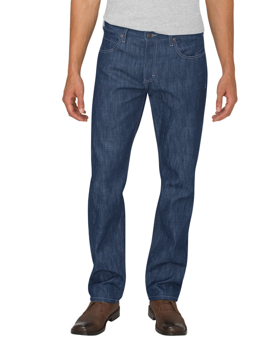 Dickies Mens X-Series Button Fly Regular Fit Straight Leg 5-Pocket Denim Jeans