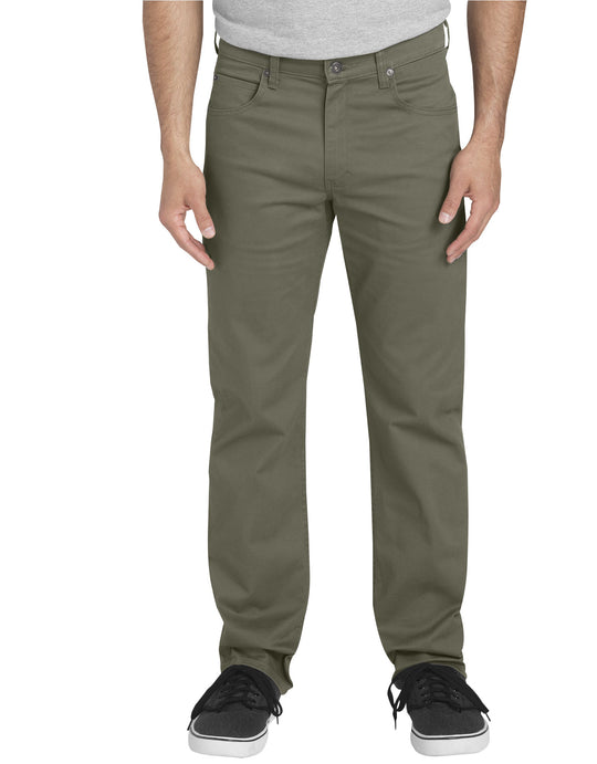 Dickies Mens FLEX Regular Fit Straight Leg 5-Pocket Pants