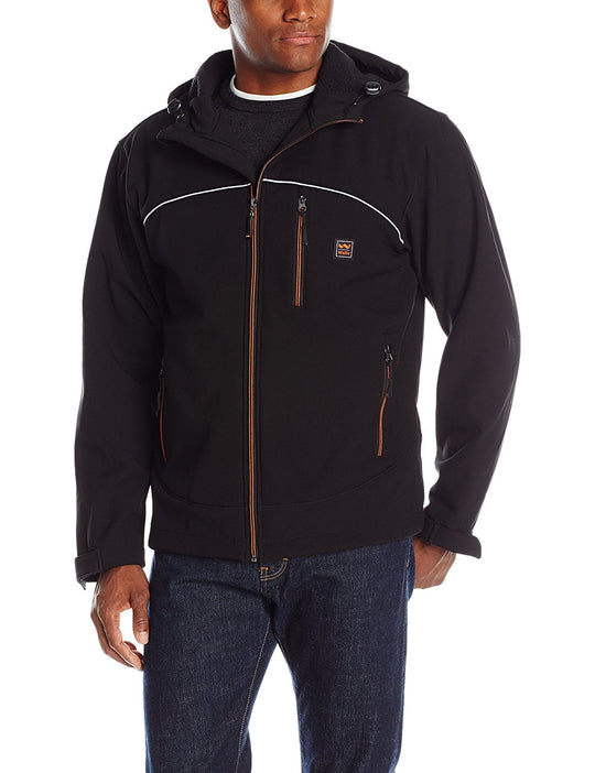 Walls Mens Windcrest Storm Protector Hooded Solid Softshell WPB Jacket