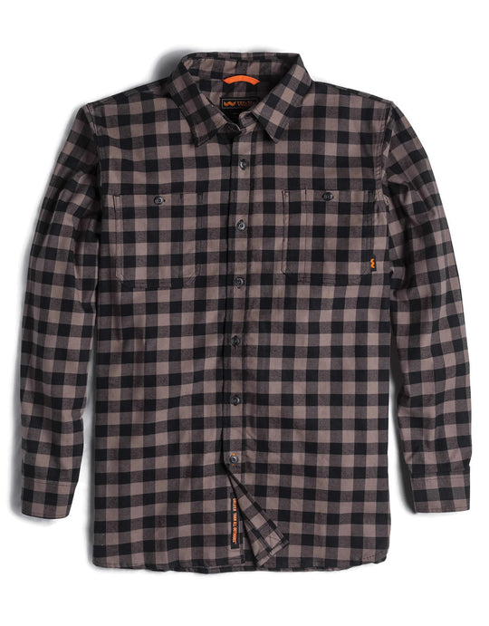 Walls Mens Long Sleeve Brushed Flannel Shirt with Stretch