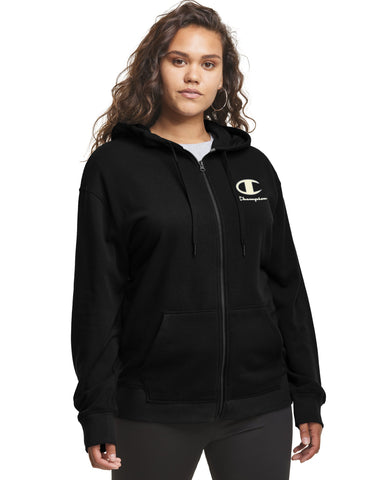 Champion Womens Plus Campus French Terry Zip Jacket