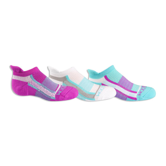 Fruit of the Loom Girls 3 Pair Breathable Nylon No Show Tab Socks with Arch Support