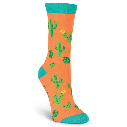 K. Bell Womens Cactus Crew Socks - American Made