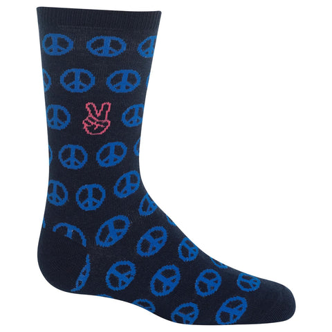 Hot Sox Kids Peace Signs Crew Socks
