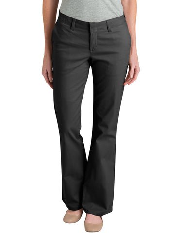 Dickies Womens Slim Fit Bootcut Stretch Twill Pants