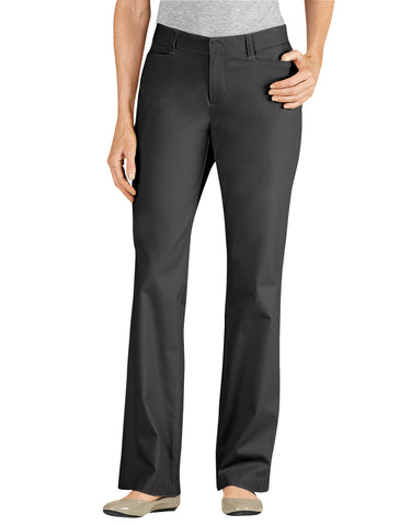 Dickies Womens Curvy Fit Straight Leg Stretch Twill Pants