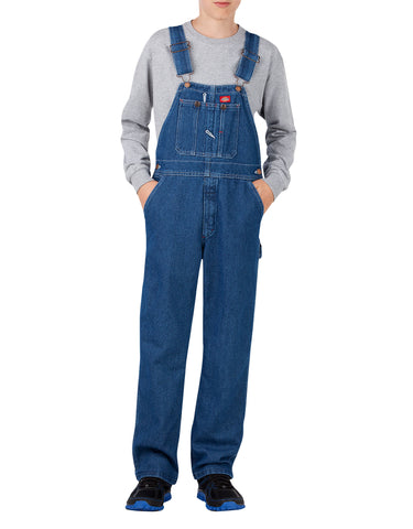 Dickies Kids Denim Bib Overalls, Sizes 8-20