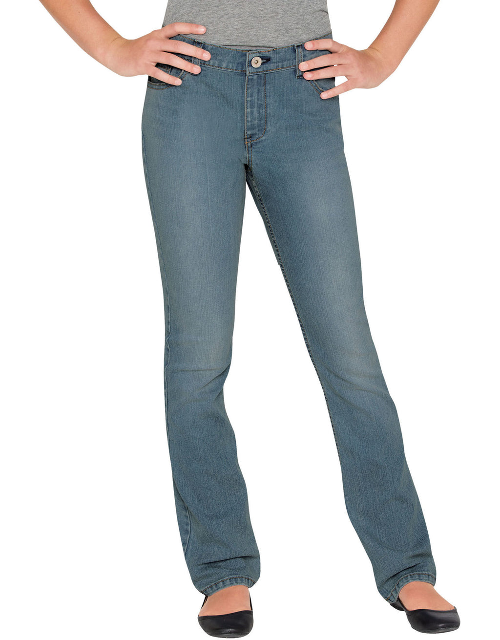 Dickies Girls Slim Fit Bootcut Denim Jeans, Sizes 7-16