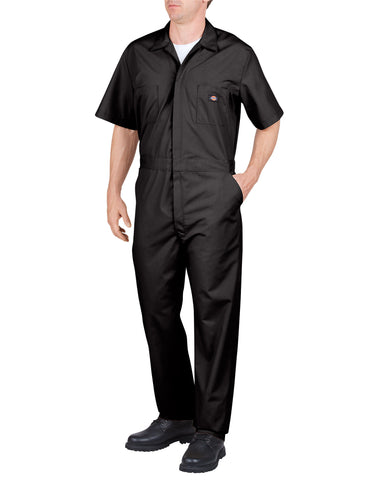 Dickies Mens Short Sleeve Poplin Coveralls