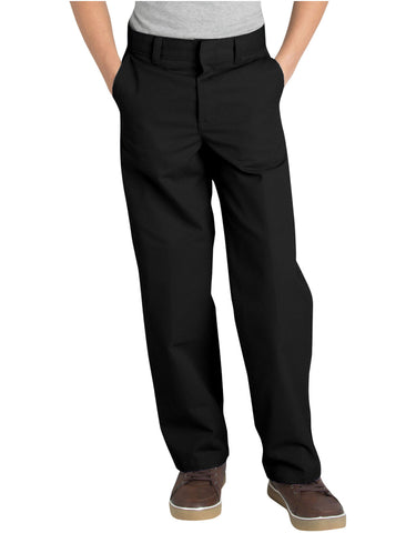 Dickies Boys Classic Fit Straight Leg Flat Front Pants, 8-20