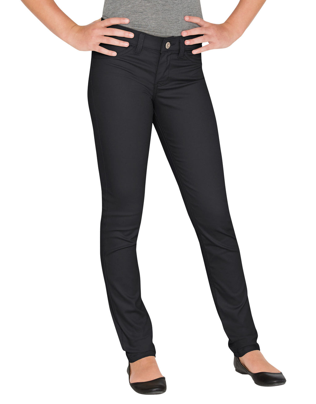 Dickies Girls Super Skinny Fit Skinny Leg Pants, 7-16