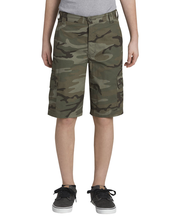 Dickies Boys Relaxed Fit Camo Ripstop Cargo Shorts, 8-18