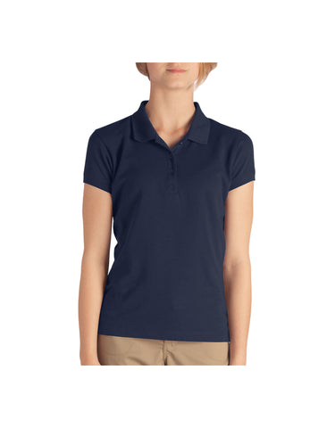 Dickies Girls Short Sleeve Pique Polo, 4-6