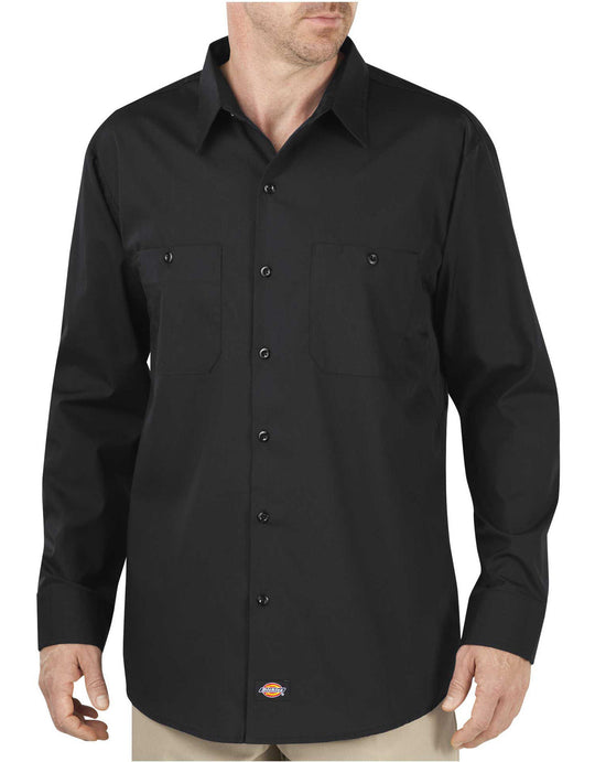Dickies Mens Industrial WorkTech Long Sleeve Ventilated Performance Shirt
