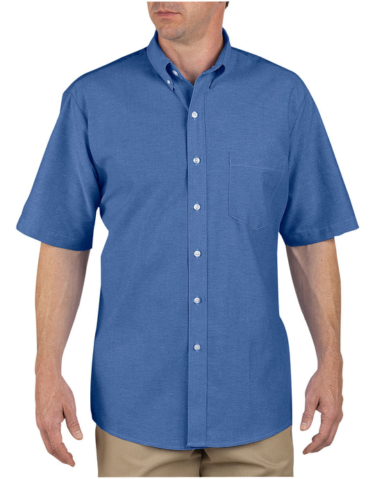Dickies Mens Button-Down Oxford Short Sleeve Shirt