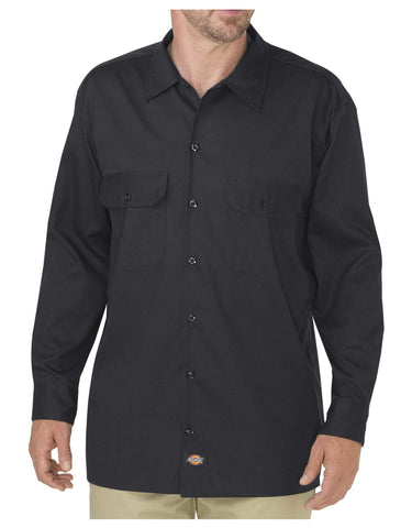 Dickies Mens FLEX Relaxed Fit Long Sleeve Twill Work Shirt