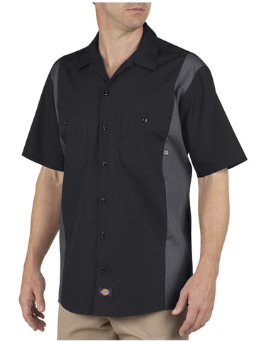 Dickies Mens Industrial Color Block Short Sleeve Shirt
