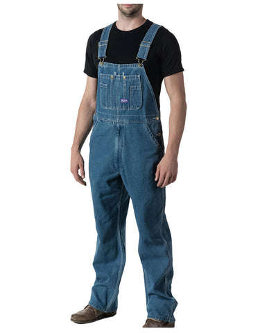 Walls Mens Big Smith® Stonewashed Denim Bib Overalls