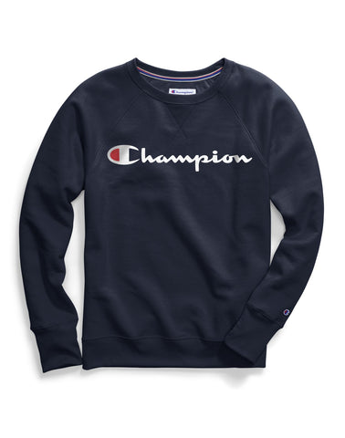Champion Womens Plus Powerblend Fleece Boyfriend Crew
