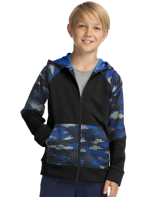 Hanes Boys Sport Tech Fleece Full Zip Hoodie