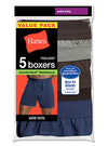 Hanes Men's TAGLESS Knit Boxers with ComfortSoft Waistband 5-Pack