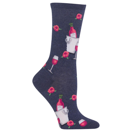 Hot Sox Womens Rose Wine Sock