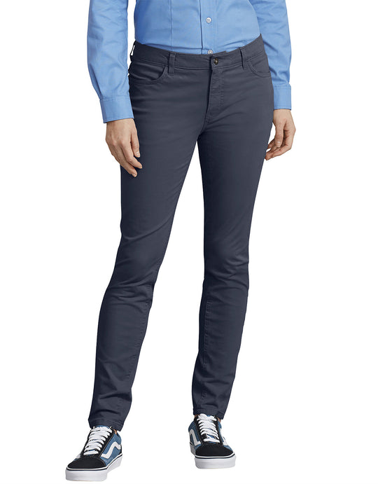 Dickies Womens Perfect Shape Skinny Twill 4-Pocket Pants