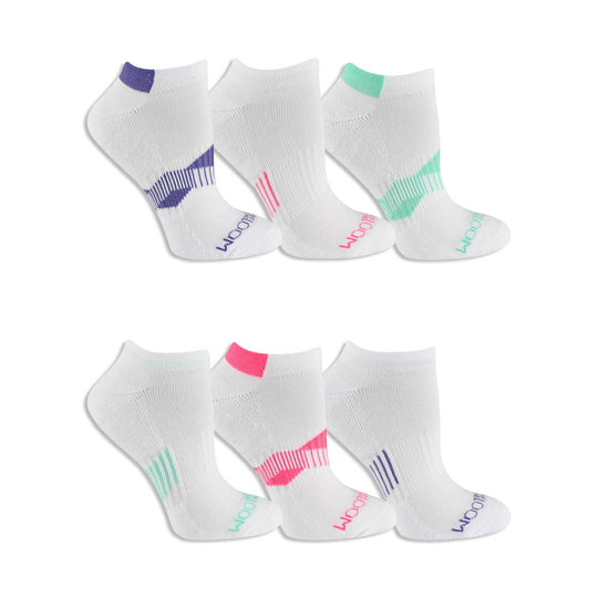 Fruit of the Loom Womens 6 Pair Everyday Active No Show Socks