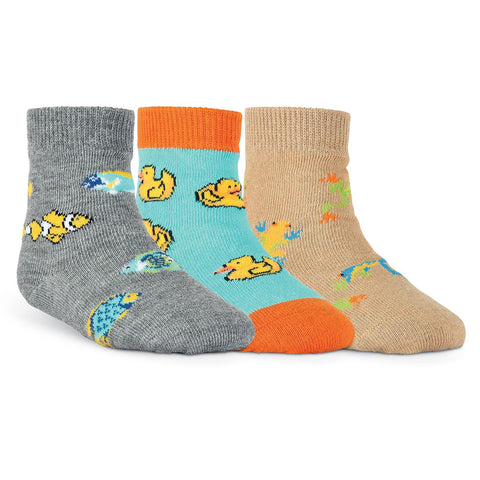 K. Bell Infants Colorful Fish Three Pair Crew Socks