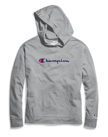 Champion Womens Heavyweight Jersey Pullover Hoodie