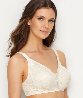 Bali Womens Double Support Soft Touch Back Smoothing Wirefree Bra