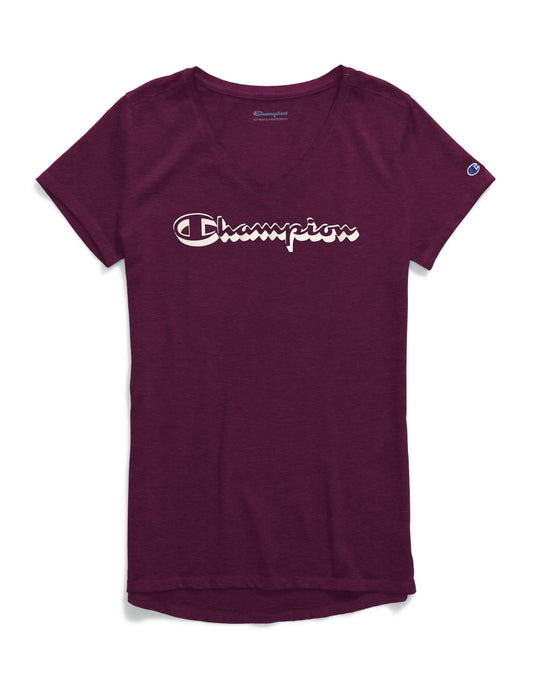 Champion Womens Authentic Wash V-Neck Tee