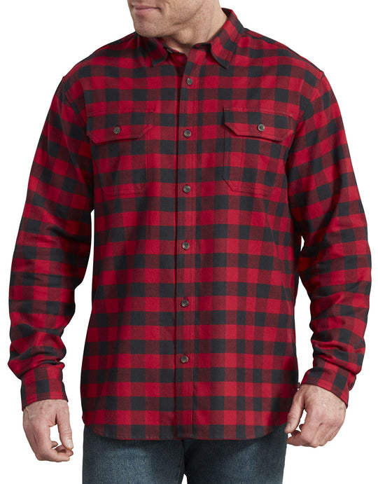Dickies Mens FLEX Long Sleeve Flannel Shirt