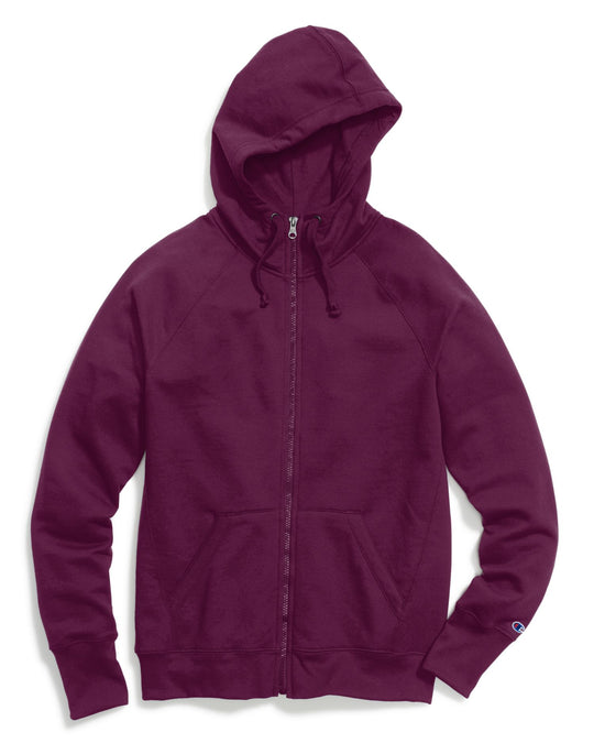 Champion Women`s Fleece Full Zip Hoodie
