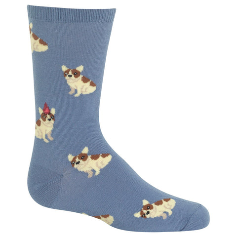 Hot Sox Kids Birthday Frenchie Crew Socks