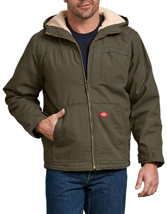 Dickies Mens Duck Sherpa Lined Hooded Jacket