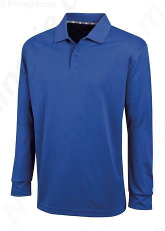 Champion Men's Ultimate Double Dry Long Sleeve Polo