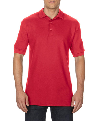 Gildan Mens Premium Cotton Double Piqué Sport Shirt, XL, Red