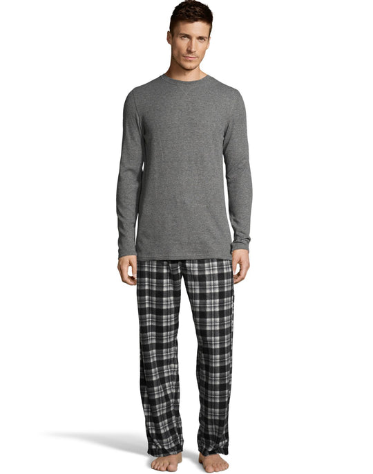 Hanes X-Temp Men`s Microfleece Sleep Set