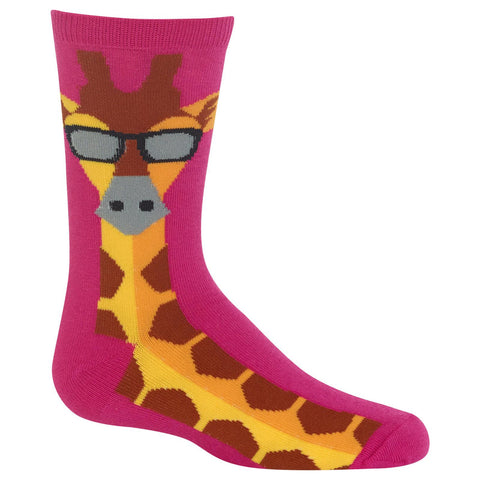 Hot Sox Kids Giraffe Crew Socks