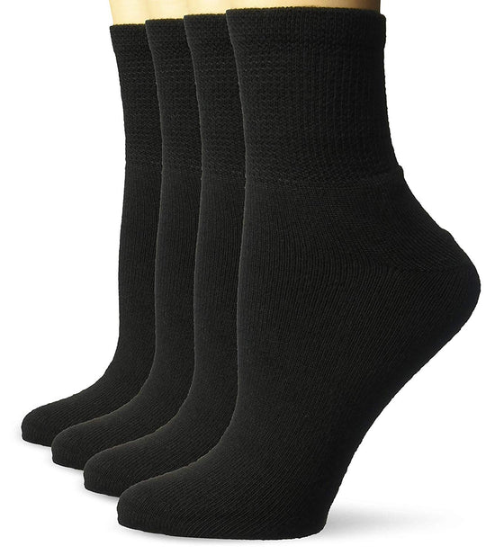 Dr. Scholls Womens Diabetes and Circulatory Ankle Socks 4 Pair