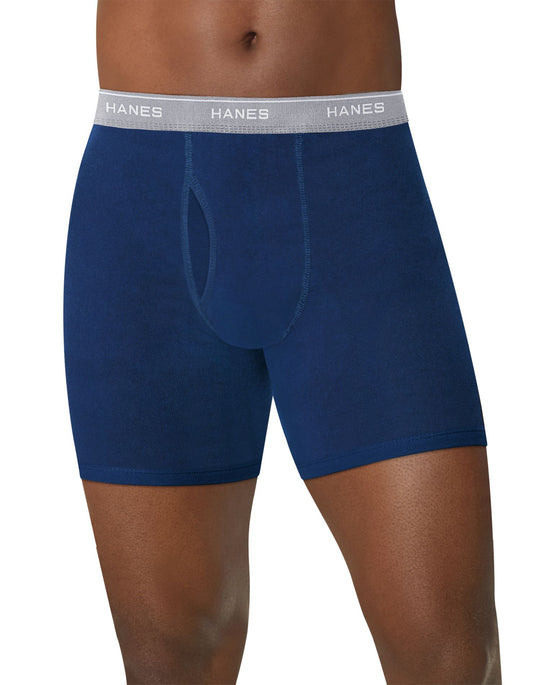 Hanes Mens ComfortSoft Boxer Briefs with Comfort Flex Waistband 2XL-3XL 4-Pack