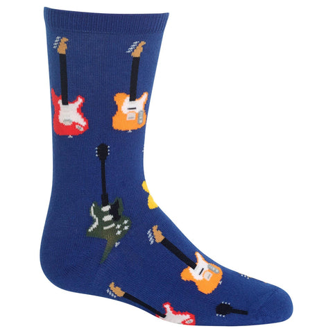 Hot Sox Kids Guitars Crew Socks