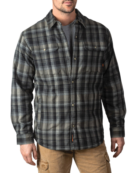 Walls Mens Lone Oak Sherpa-Lined Stretch Flannel Jac-Shirt