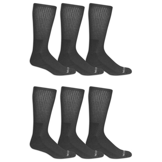 Fruit of the Loom Mens 6 Pair Half Cushion Crew Socks