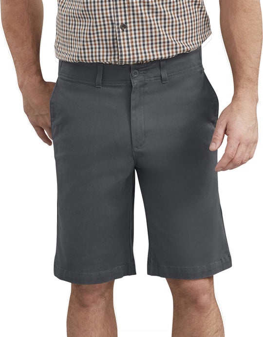 "Dickies Mens X-Series 11"" Active Waist Washed Chino Shorts"