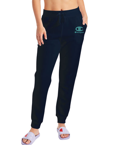 Champion Womens Powerblend Fleece Joggers, XXL, Athletic Navy