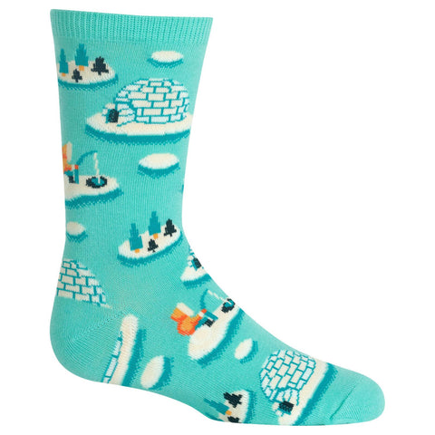 Hot Sox Kids Igloos Crew Socks