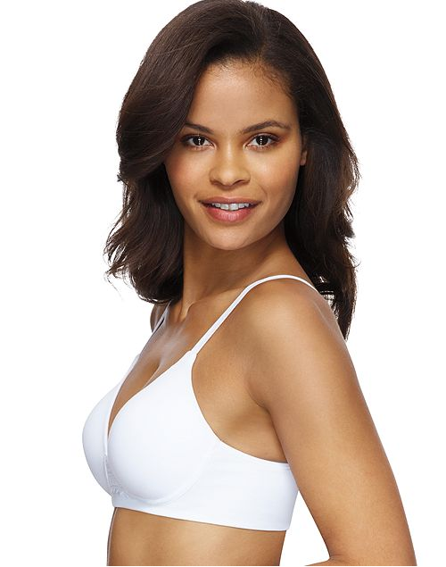 Hanes Womens Ultimate ComfortBlend T-Shirt Natural Lift Wirefree Bra