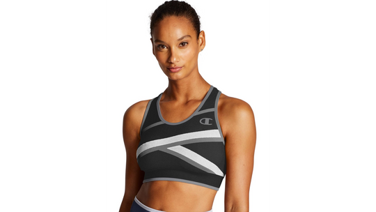 Champion Womens The Infinity Asymmetrical Racerback Sports Bra